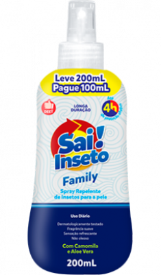 Repelente Sai Inseto Spray Family 4h - 200ml